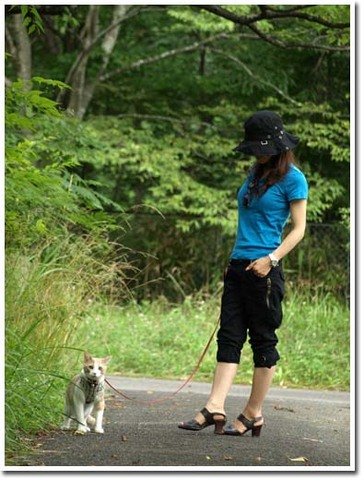 21美人になる方法 ニャンと散歩.jpg